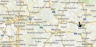 bamberg germany map germany