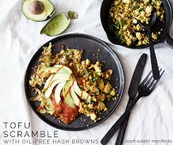 hashbrown grater tofu scramble with free hash browns plant eaters manifesto
