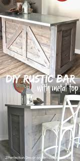 Bar Hutch Remodelaholic Ikea Hack Rustic Bar With Galvanized Metal Top