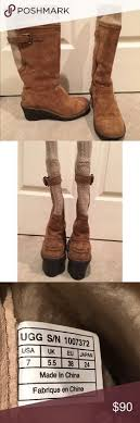 s ugg australia emalie boots ugg skyfall knit buckle detail wedge sweater boots shops the o