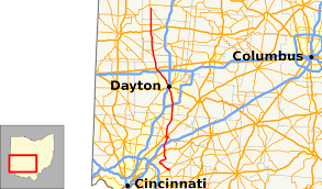 Map Dayton Ohio by Ohio State Route 48 Wikipedia