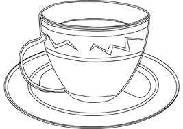 Cup Free Coloring Page Cup Coloring Page