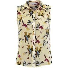 print blouses vera bird print blouse polyvore
