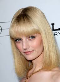 layered hairstyles with bangs and tuck behind the ears medium straight hairstyles with bangs beauty riot