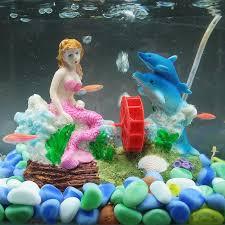 new free shipping aquarium ornament mermaid fish tank landscape