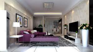 Living Room With Purple Sofa Modern Living Room Purple Interior Design