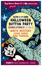 glow in the dark halloween party busy beaver button co blog