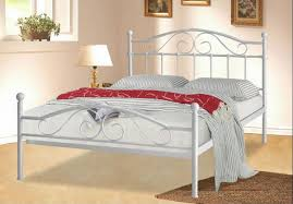 simple white metal bed frame home interior design 27698