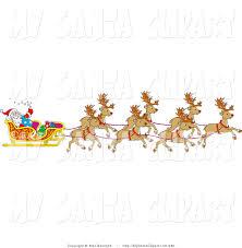 free santa and reindeer clipart 47