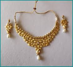 flower necklace designs images Awesome gold flower necklace plated design image for sovereign jpg