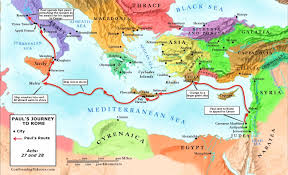 Rome World Map by Paul U0027s Journey To Rome Map Paul U0027s Voyage To Rome