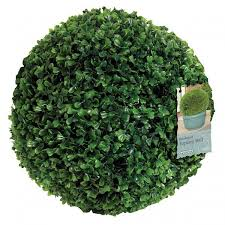Pre Lit Topiary Gardman Leaf Effect Topiary Ball Large Charlies Direct