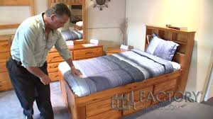 Captain Beds Twin by Captains Bed With Bookcase Factorybunkbeds Com Youtube