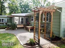 Backyard Building Plans Diy Garden Arbor With Faux Patina Build Plans Prodigal Pieces