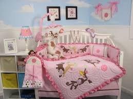 Girls Jungle Bedding by Monkey Crib Bedding Set Home Inspirations Design