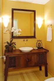 hot summer trend dashing powder rooms with tropical flair custom crafted vanity for the warm tropical powder room design