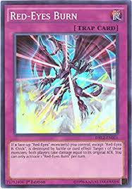 amazon yugioh black friday amazon com yu gi oh red eyes burn drl2 en021 dragons of