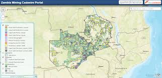 Map Of Zambia 2016 08 Screenshot Of Zambia Mining Cadastre Portal Mining In Malawi