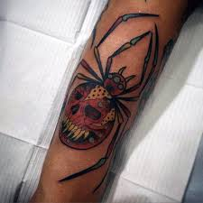 100 spider tattoos for men a web of manly designs