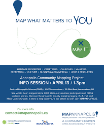 Community Mapping Mapannapolis Community Mapping Open House At Nscc Centre Of