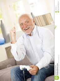 Man On Computer Meme - senior man winning on computer game stock photo image of