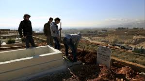 syrian refugees in lebanon are running out of space to bury their