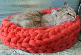 Cat Bed Pattern Knitting Pattern For Dog Bed Noten Animals Round Cat Crochet