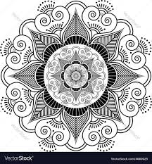 indian henna tattoo flower pattern royalty free vector image