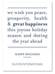 plantable corporate holiday cards on seeded paper peace message