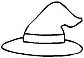 witch hat coloring clipart clipartbarn