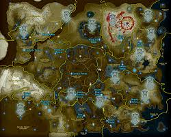 White Castle Locations Map Zelda Breath Of The Wild Guide Goddess Statue Locations Update