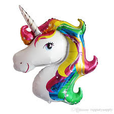 character balloons delivery 116 87cm anagram rainbow unicorn foil balloons america imported