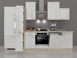 K Henzeile Angebot Küchenzeile 310 Cm Hochglanz Weiß Mit Oranier Backofen Und