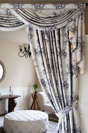 Window Swags And Valances Patterns Fleur Noir Wide Overlapping Style Swag Valance Curtain Set Classic
