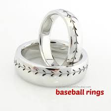 ultrasound wedding band baseball rings wedding ideas baseball ring
