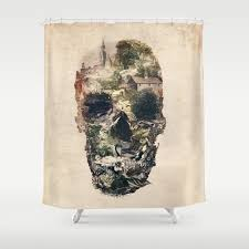 turn your bathroom into an art gallery with custom shower curtains