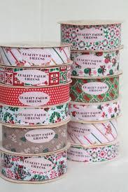 fabric ribbon vintage craft ribbon lot paper fabric ribbons w retro christmas
