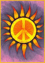 hippie peace sign sun pinteres