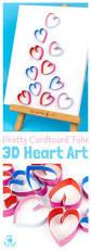 3d cardboard tube heart art kids craft room
