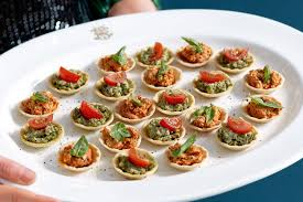 simple vegetarian canapes basil and ricotta tartlets