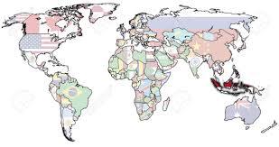 Indonesia World Map by Monaco Europe Map Roundtripticket Me
