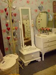 SHABBY CHIC FREE STANDING MIRROR WITH DRAW BEDROOM FURNITURE In - Bedroom furniture norfolk