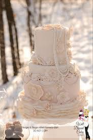vintage wedding cakes vintage pearl ruffle wedding cake ruffled wedding cake