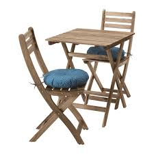 Ikea Folding Table And Chairs Askholmen Table 2 Chairs Outdoor Askholmen Gray Brown Stained