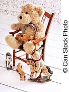 Bear On The Chair Old Teddy Bear Stock Photo Images 6 514 Old Teddy Bear Royalty