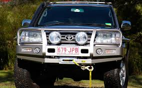 Tjm Awning Toyota 100 Series Landcruiser Ifs Outback Deluxe Bull Bar Steel