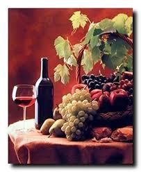 Wine Decor For Kitchen Amazon Com Wine U0026 Fruit Grapes And Apples Still Life Kitchen