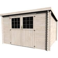 construction d une serre de jardin en bois abri de jardin en bois 8 16m2 ep 28mm modèle elan leroy merlin