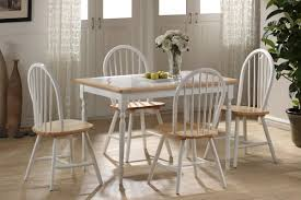 Dining Room Tables White 5 Piece Square Tile Top Set Boraam