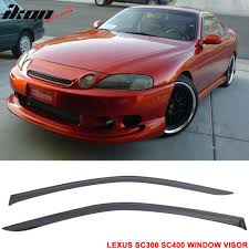 lexus sc400 red fit for 92 00 lexus sc300 400 window visor rain vent shade wind